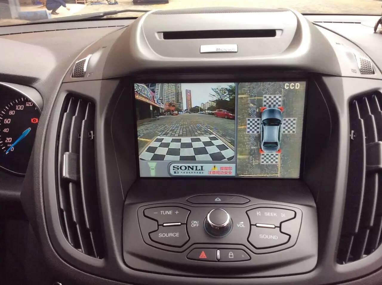 福特翼虎安装360度全景行车记录仪!